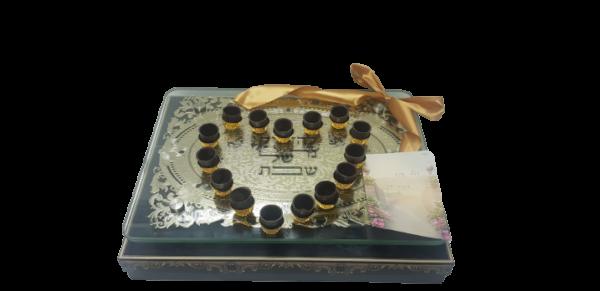 מגש לנרות ציפוי זהב בעיצוב שוקולד