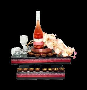מתנה מכובדת עיצוב שוקולד ויין ליום הולדת