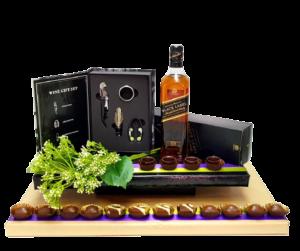 משלוחי מנות עיצוב כוסיות שוקולד וויסקי