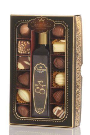 מארז 12 פרלינים וליקר שוקולד