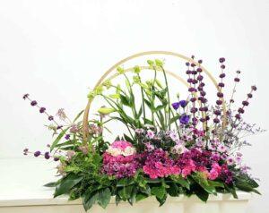 מתנה לכלה עיצוב פרחים ענק