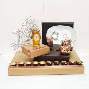 עיצוב שוקולד ודבש עם מגש דבשיה