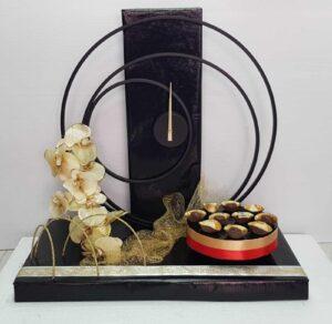 שעון קיר מעגלי בעיצוב שוקולד