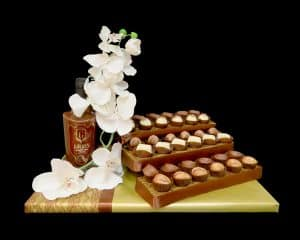 עיצוב שוקולד סחלב לבן וליקר