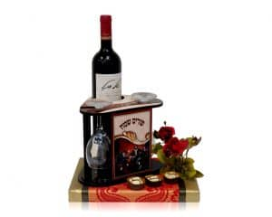 משלוח מנות - סטנד יין וכוסות