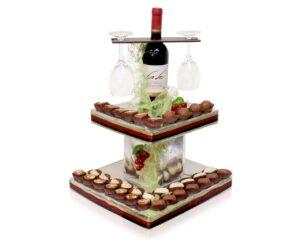 פירמידת יין ושוקולד יוקרתי