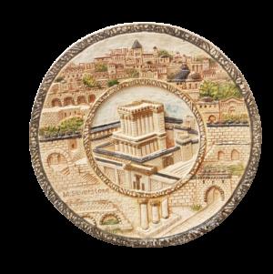 יצירת אמנות פיסול דגם בית המקדש