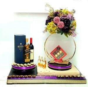 עיצוב מתנה ענק ויסקי שוקולד ודבש