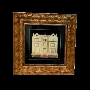 תמונת זהב דגם בנין 770 הרבי מחבד