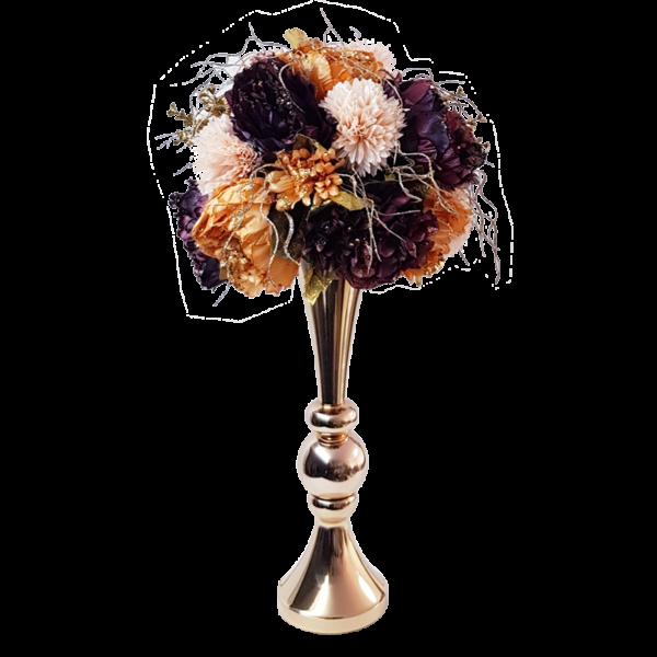 אגרטל פרחי משי למרכז שולחן