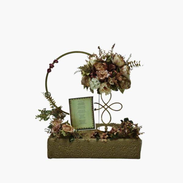 שזירת פרחי משי עיצוב מתנה לכלה