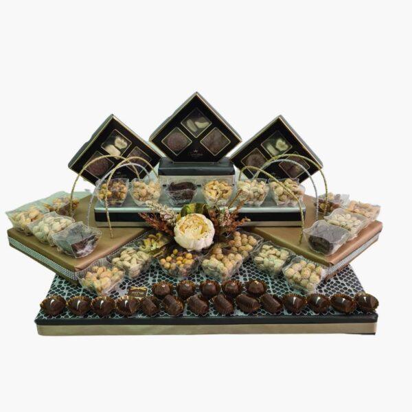 עיצוב שוקולד פרלינים ופיצוחים לשבת